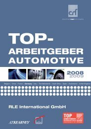 TOP-Arbeitgeber Artikel: RLE Firmenportrait (PDF)