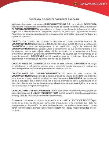 CONTRATO DE CUENTA CORRIENTE BANCARIA - Banco ...