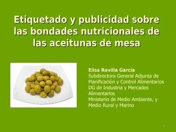 Etiquetado y publicidad sobre las bondades nutricionales de las ...