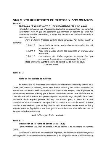 SIGLO XIX REPERTORIO DE TEXTOS Y DOCUMENTOS