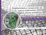 Establecimiento y recuperación de cultivos tradicionales de plantas ...