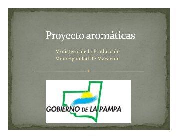 LA PAMPA Proyecto aromáticas presentacion Riglos - Alimentos ...