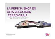 LA PERICIA SNCF EN ALTA VELOCIDAD FERROVIARIA - Y vasca