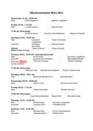 Ministrantenplan März 2012