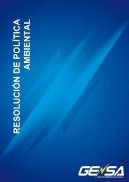 resolución política ambiental - Gensa