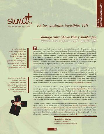 En las ciudades invisibles VIII - SUMA Revistas de matemáticas