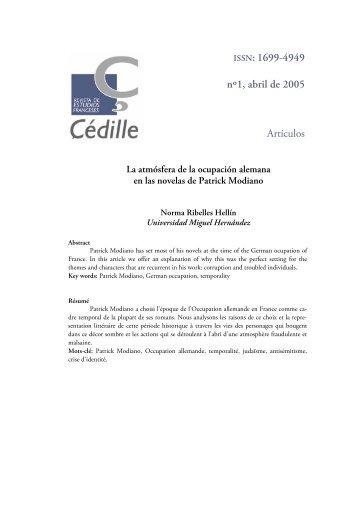 1699-4949 nº1, abril de 2005 Artículos - Çédille. Revista de estudios ...