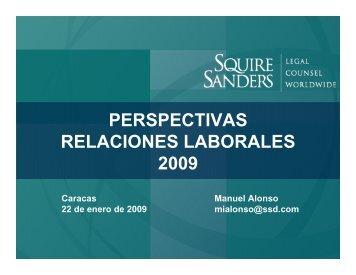PERSPECTIVAS RELACIONES LABORALES 2009 - Squire Sanders