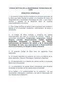 anteproyecto del codigo de etica de la universidad tecnologica de ... - Page 6