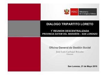 Presentación de la OfIcina General de Gestión Social - Ministerio de ...
