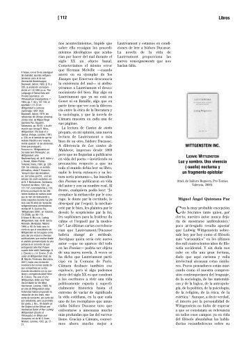 Wittgenstein Inc. - Miguel Ángel Quintana