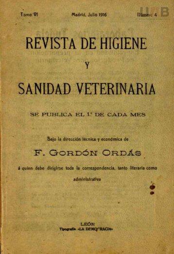 REVISTA DE HIGIENE SANIDAD VETERINARIA