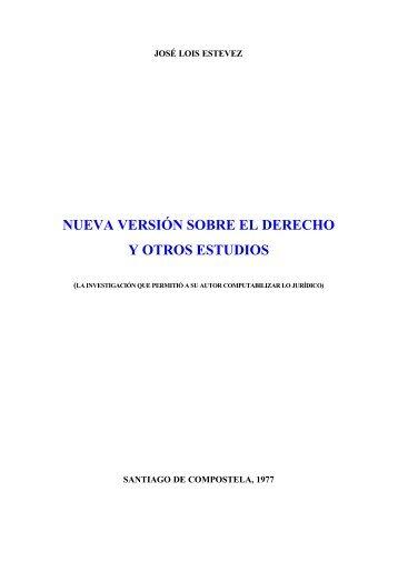 Nueva Versión sobre el Derecho y otros Estudios - Profesor José ...