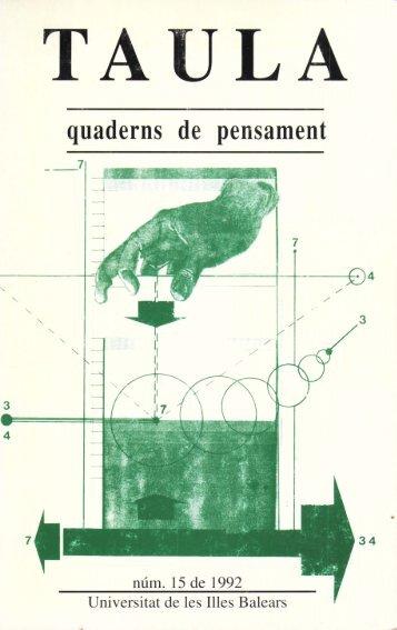 nade s e pe sa e - Biblioteca Digital de les Illes Balears - Universitat ...