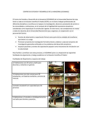 El Centro de Estudios y Desarrollo de la Amazonia (CEDAMAZ)