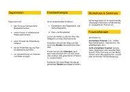 Supervision Familientherapie Workshops & Seminare Traumatherapie