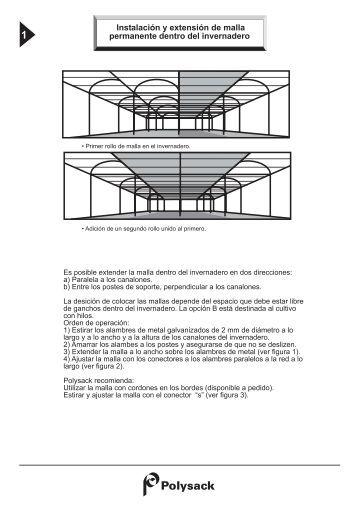 Instalación y extensión de malla permanente dentro del ... - Polysack