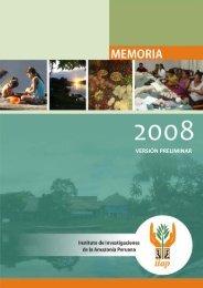 versión preliminar - Instituto de Investigaciones de la Amazonía ...