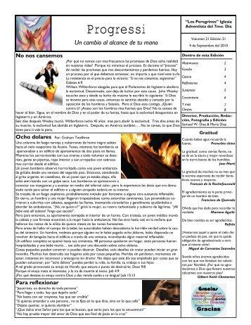 Septiembre 2010 - Los Peregrinos Iglesia Adventista del Séptimo Día