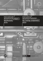 Internationaler Aluminium-Druckguss- Wettbewerb 2010