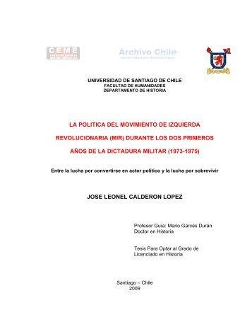 la politica del movimiento de izquierda revolucionaria - Centro de ...