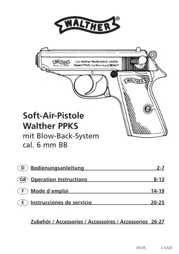 Soft-Air-Pistole Walther PPKS - Softair-Center KG