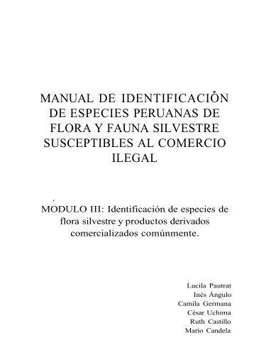 MANUAL DE IDENTIFICACIÓN DE ESPECIES PERUANAS ... - Apeco