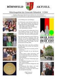 Böhmfeld aktuell, Ausgabe September 2004