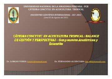 Más detalle... - Consejo Nacional de Ciencia y Tecnología, Concytec