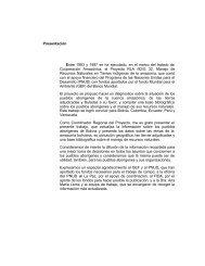 Pueblos indigenas de la Amazona Boliviana - OTCA