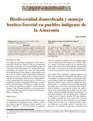 Biodiversidad domesticada y manejo hortico-forestal en pueblos ...