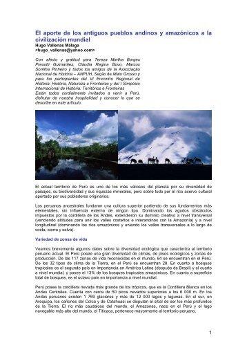 El aporte de los antiguos pueblos andinos y amazónicos a la