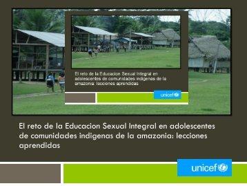 Presentación del doctor Mario Tavera, Oficial de UNICEF ... - codajic