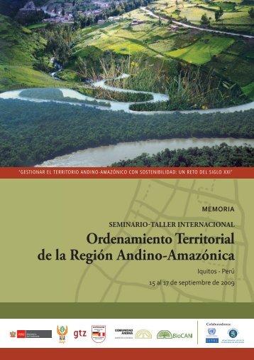 Ordenamiento Territorial de la Región Andino-Amazónica