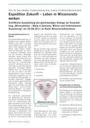 Expedition Zukunft – Leben in Wissensnetz- werken - AWV