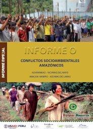 CONFLICTOS SOCIOAMBIENTALES AMAZÓNICOS - Servindi