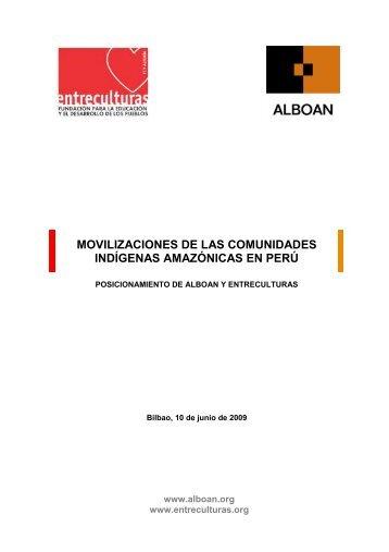 Posicionamiento de ALBOAN y Entreculturas