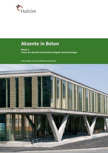 Akzente in Beton