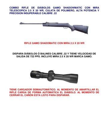COMBO RIFLE DE DIÁBOLOS GAMO SHADOWMATIC ... - Protesec