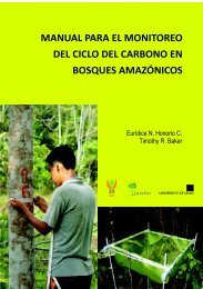 Manual para el monitoreo del ciclo de carbono en bosques ... - Rainfor