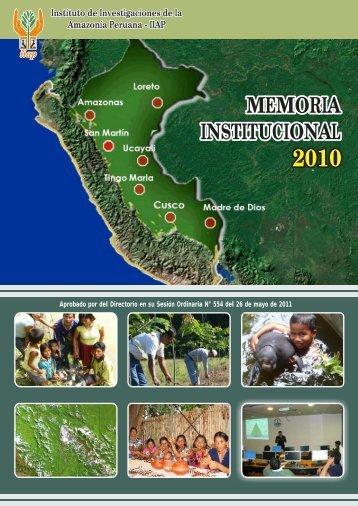 Memoria Institucional 2010 - Instituto de Investigaciones de la ...