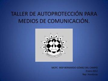 taller de autoprotección para medios de comunicación.