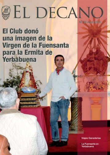 El Club donó una imagen de la Virgen de la Fuensanta para la ...