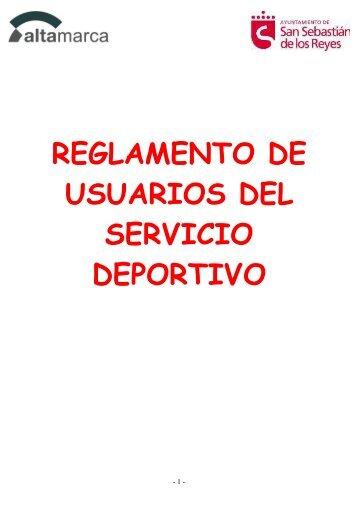 reglamento de usuarios del servicio deportivo - Ayuntamiento de ...