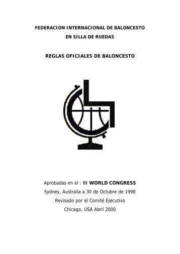 REGLAS OFICIALES DE BALONCESTO Aprobadas en el : II ... - Sapo