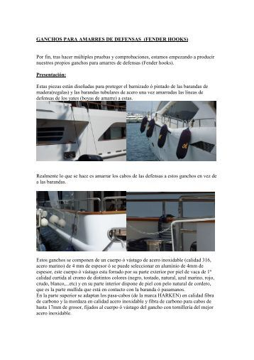 GANCHOS PARA AMARRES DE DEFENSAS ... - Conarpe.com