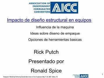 Rick Putch Presentado por Ronald Spice