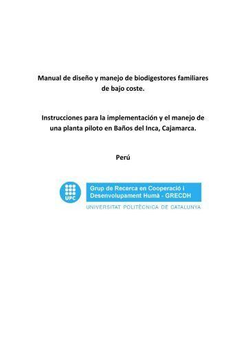 Manual de diseño y manejo de biodigestores familiares de bajo ...