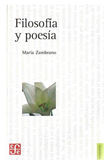 María Zambrano: Filosofia y poesía - iberoamericanaliteratura