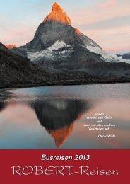 Reiseprogramm 2013 - ROBERT-Reisen